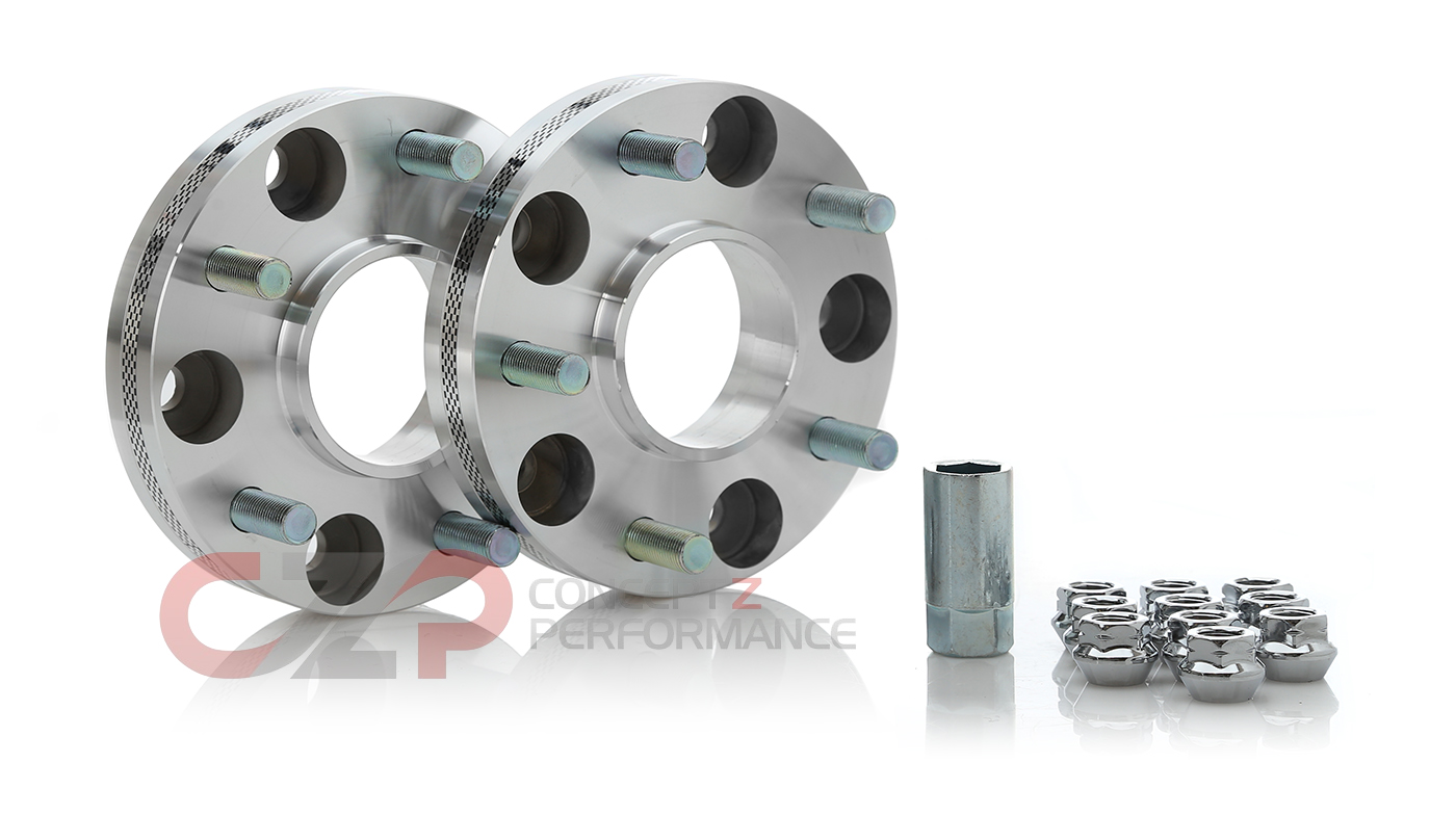 FIC Hubcentric M12x1.25 Wheel Spacers Pair 5x114.3, 10-25mm