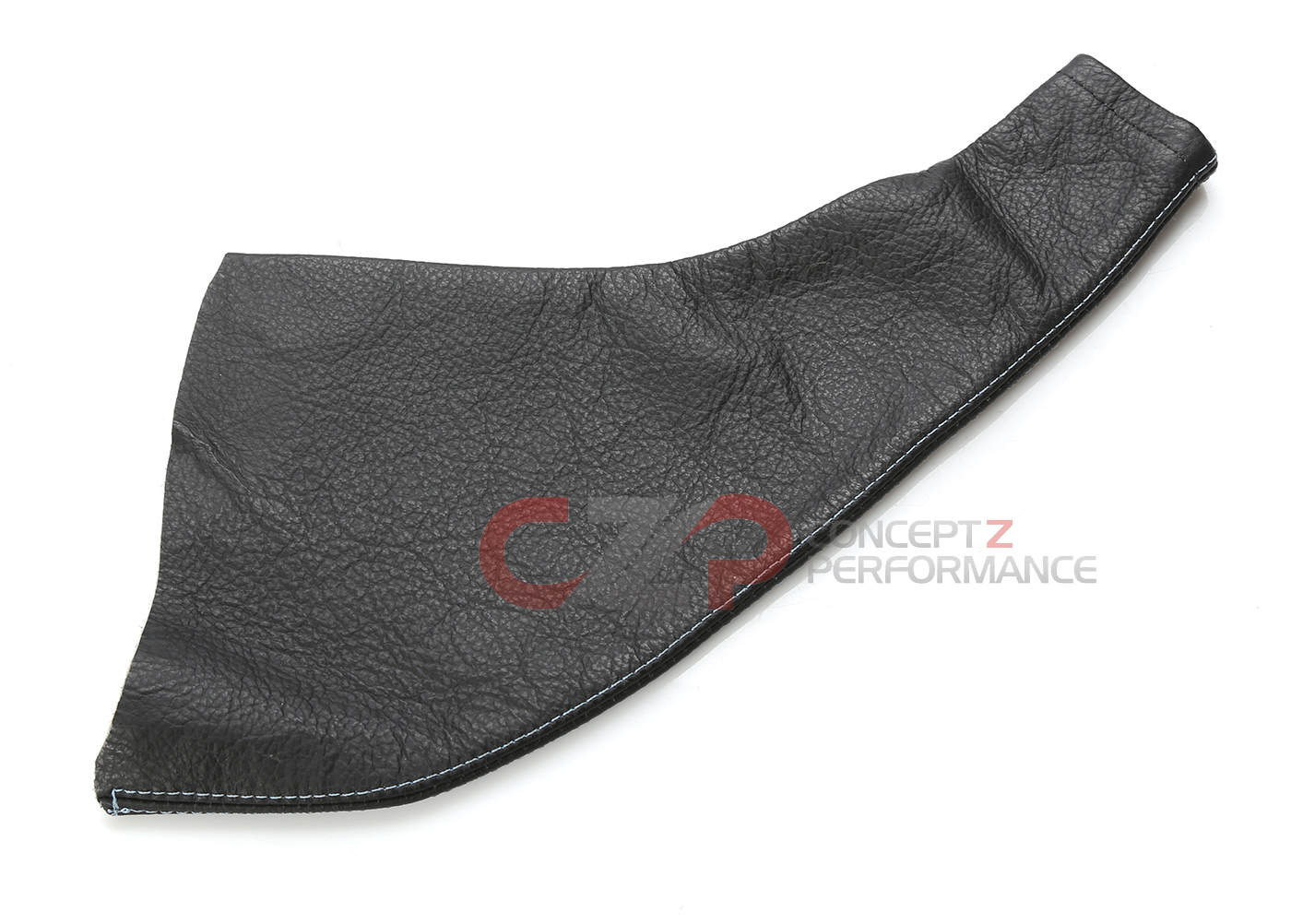 Redline Goods Leather E Brake Boot w/ Light Blue Stitching - Nissan 240SX S13