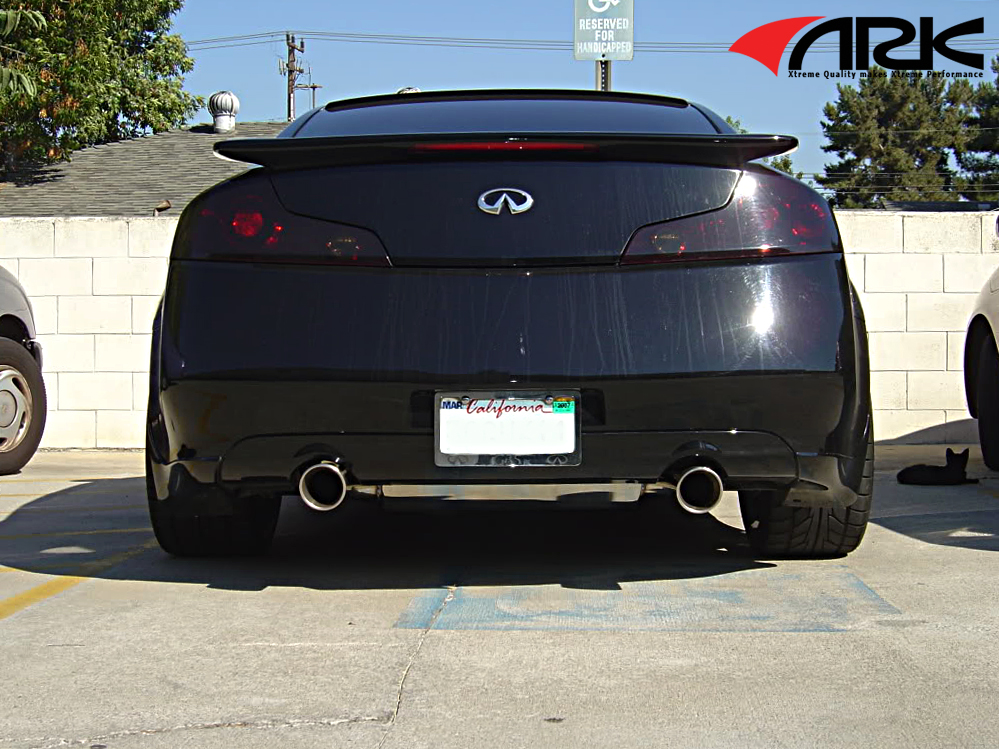 Ark Performance Sm11010003d 25 Stainless Steel Catback Exhaust System Polished 43 Single Rolled Split Tips Dts Version Infiniti G35 0307 Coupe: G35 Coupe Catback Exhaust At Woreks.co