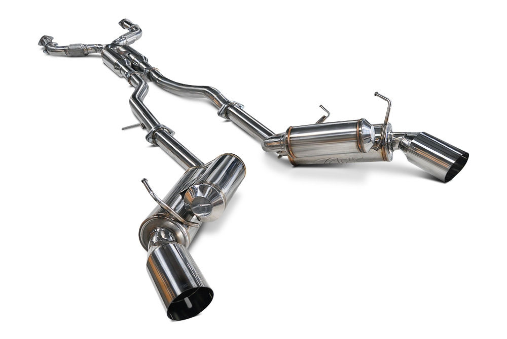 "ARK Performance 2.5"" Pipe True Dual GRiP Exhaust System, Polished Tip - Infiniti Q50 14+ V37"