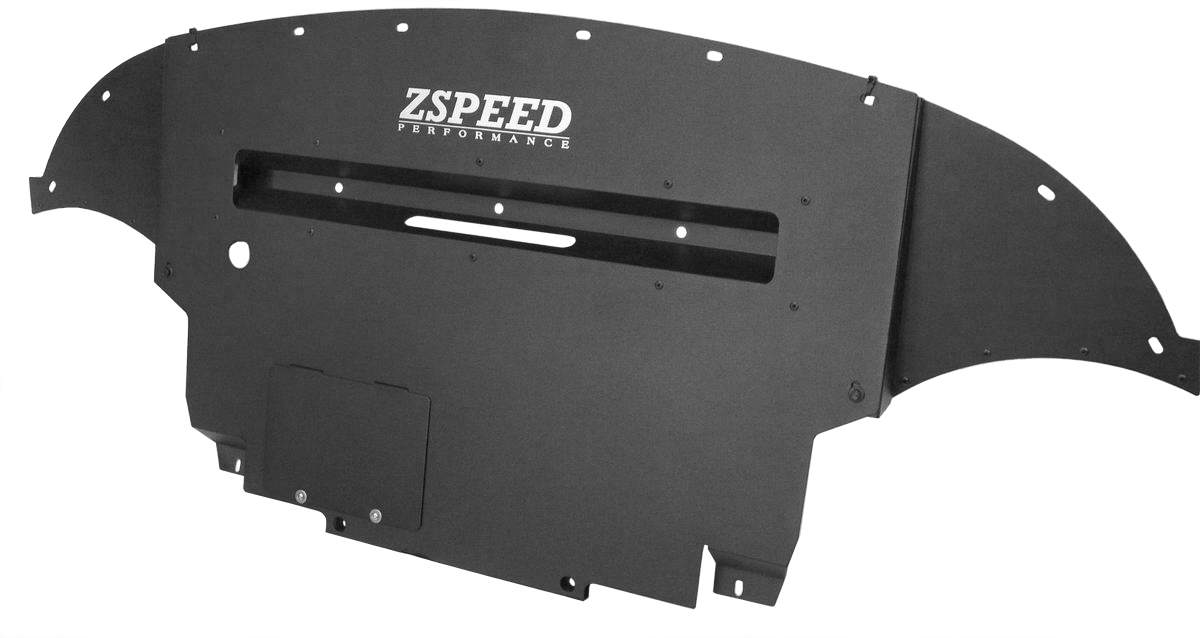 Z Speed Performance ZSP Aluminum Engine Cover Under Panel Diffuser, Nismo Model 09-14, Black - Nissan 370Z Z34