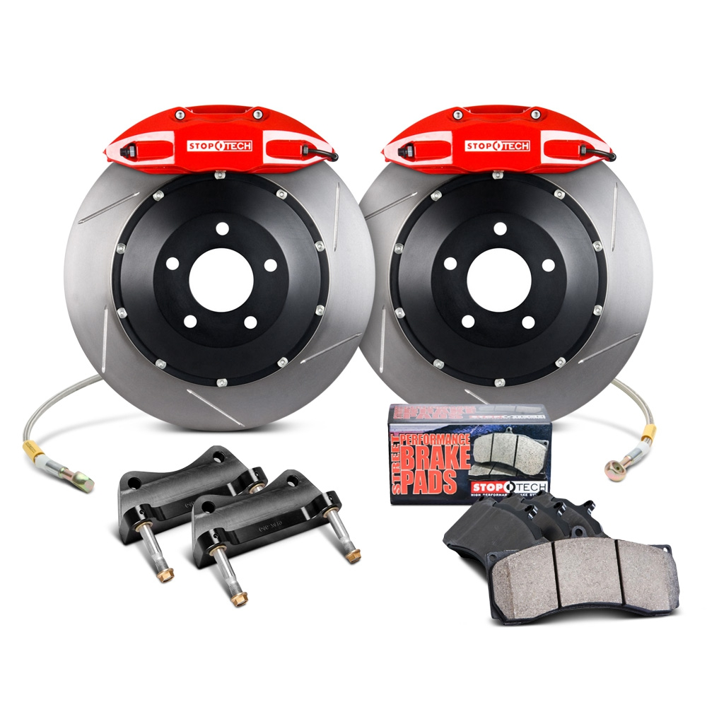 "SALE - Stoptech Front 13"" 332mm 4-Piston Big Brake Kit BBK - Nissan 350Z 03-08 Z33 / Infiniti G35 03-06 Sedan, 03-07 Coupe V35  - Limitied Quantities, 1 Kit Left!!"
