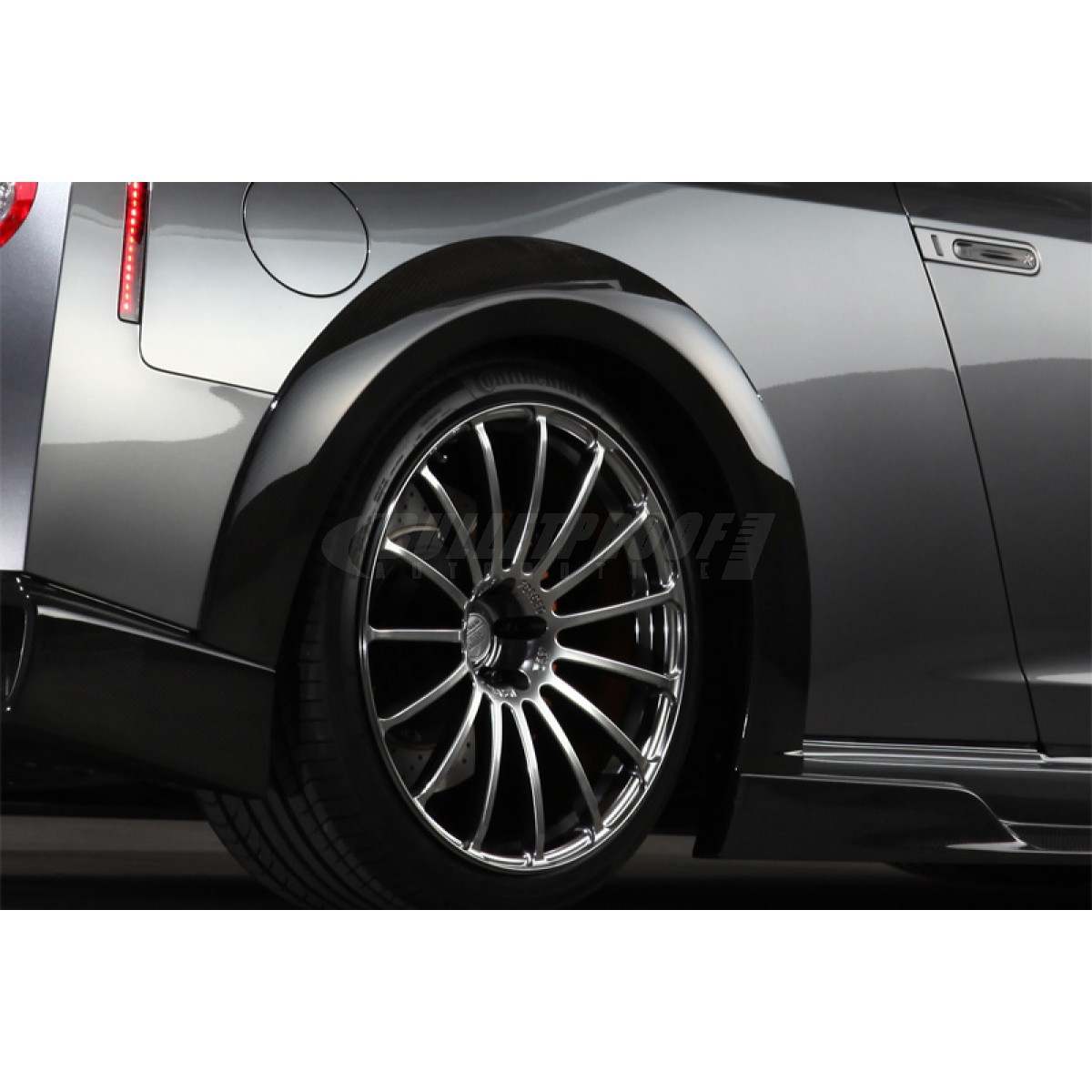 Tommy Kaira 1N001F00 Rear Fender Arch Extension, Wet Carbon Fiber - Nissan GT-R 09+ R35