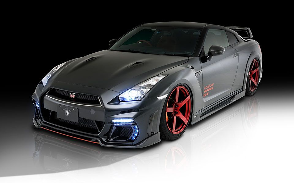 Tommy kaira racing style full body kit 8pc frp v3 for Nissan gtr bodykit