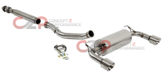 "Perrin PSP-EXT-362BR 3"" Resonated Dual Single Tip Cat-Back Exhaust Scion FR-S / Subaru BRZ"