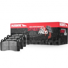 Hawk Performance HB141B.650 Street 5.0 Brake Pads, Front w/ Stoptech ST-40 Calipers