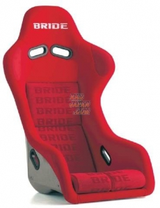 Bride F31IZR Zeta III Bucket Seat, Red Logo w/ Super Aramid Black Carbon Shell