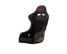 Bride F31PBZ Edirb 031 Bucket Seat, Black Protein Leather w/ Red Stitch