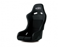 Bride F42PNZ Edirb 042 Bucket Seat, Black Protein Leather w/ Silver Stitch