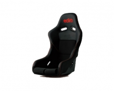 Bride F42PBZ Edirb 042 Bucket Seat, Black Protein Leather w/ Red Stitch