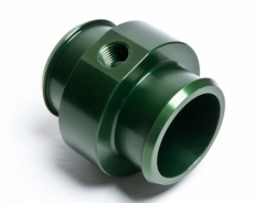 "Radium Engineering 14-0062 Hose Barb Adapter for 1 3/4"" ID Hose w/ 1/4 NPT Port, Green"