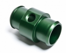 "Radium Engineering 14-0058 Hose Barb Adapter for 1 1/4"" ID Hose w/ 1/4 NPT Port, Green"