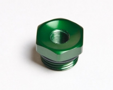Radium Engineering 14-0119 Female Adapter Fitting 3/4-16 O-Ring To 1/8 NPT, Green