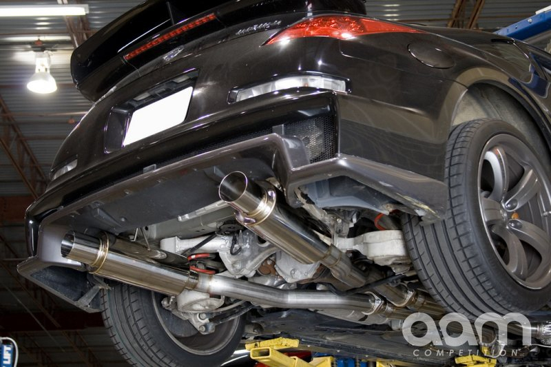 "AAM Competition 3"" MaxFlow True Dual Exhaust - Nissan 350Z 03-08 Z33"