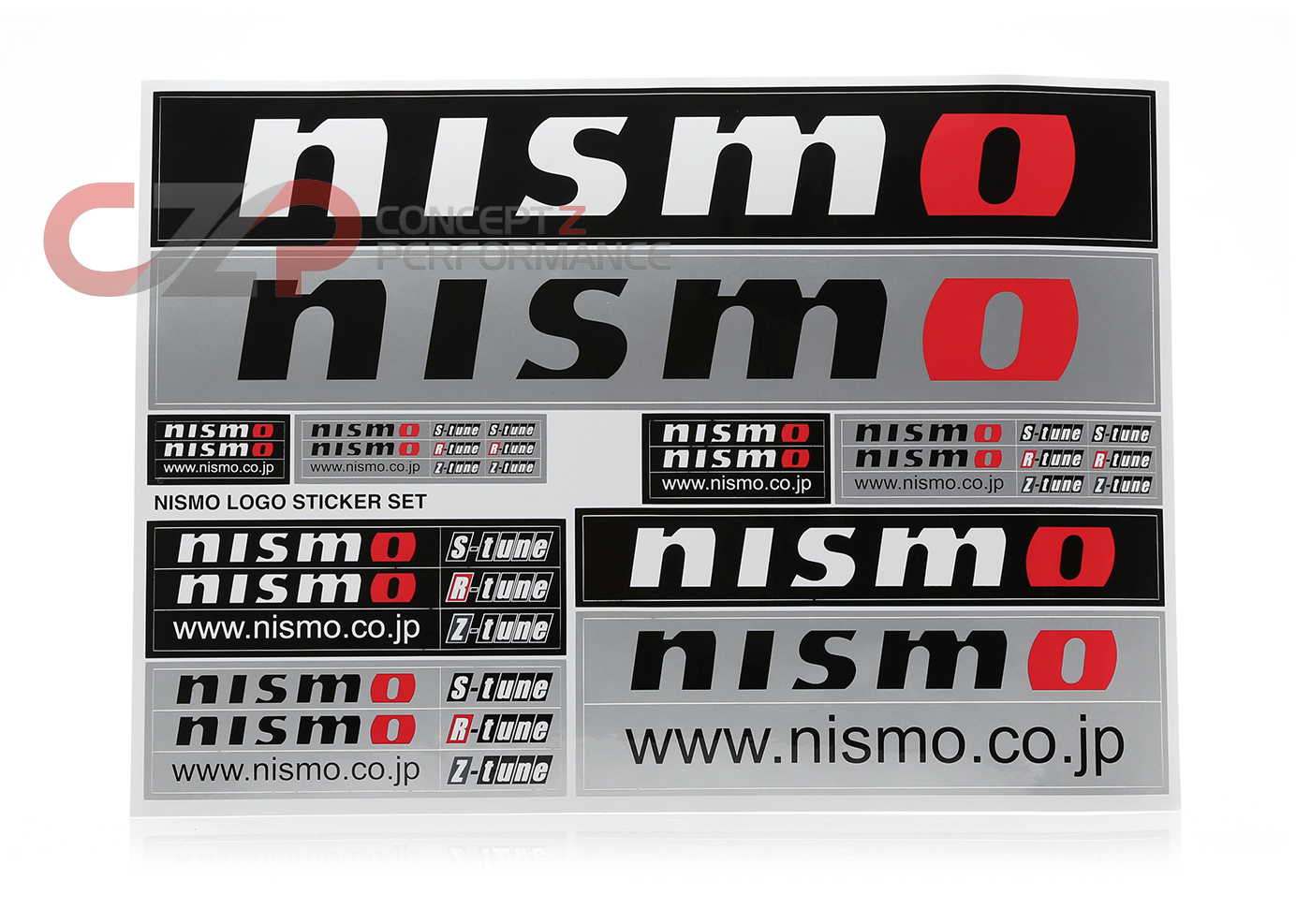 "Nismo 99992-RN237 ""NISMO"" Open O Logo Sticker Decal Set"