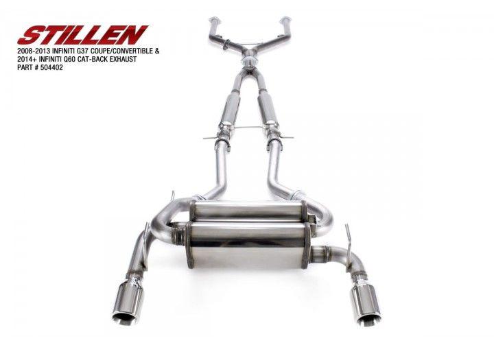 Stillen True Dual Catback Exhaust System - Infiniti G37 & Q60 Coupe CV36  504402 - Concept Z Performance