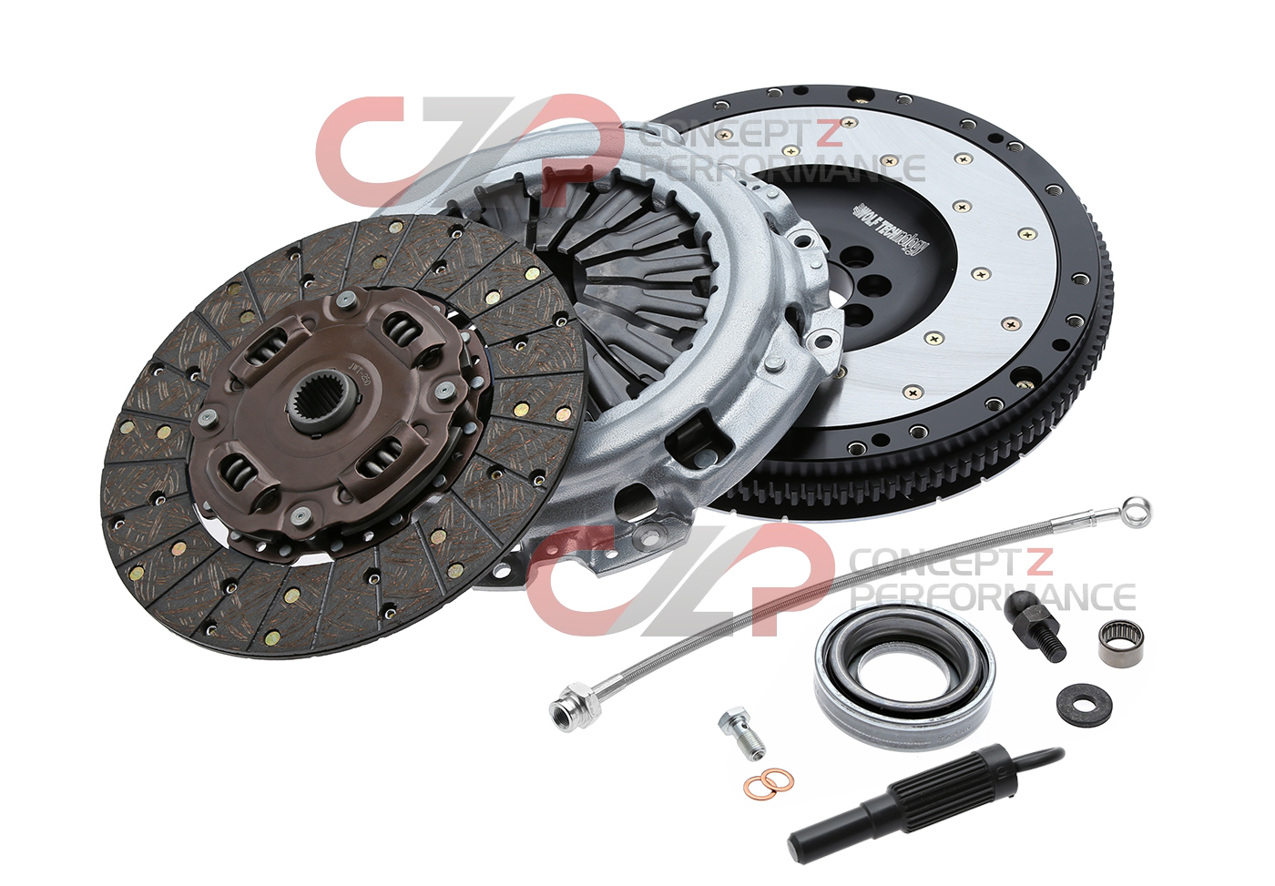 Jim Wolf Technology JWT Clutch & Flywheel Combo Kit w/ Bonus Parts, VQ35DE - Nissan 350Z / Infiniti G35