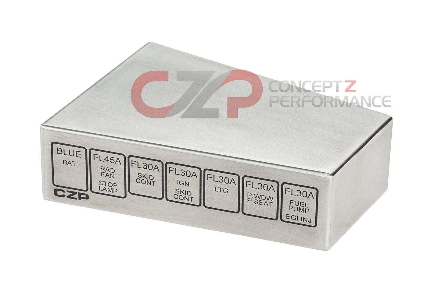 czp brushed stainless steel fusible link fuse relay cover, battery 1990 300Zx Fuse Box at 300zx 1996 Fuse Relay Box