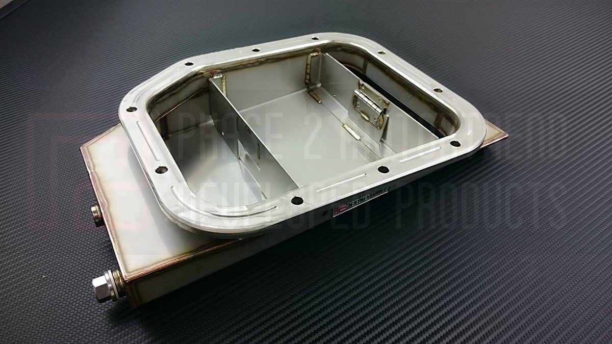 P2M Oversized Stainless Steel Oil Pan w/ Baffle Door, SR20DET - Nissan 240SX S13 S14 S15