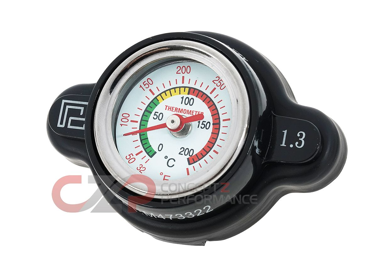 P2M Radiator Gauge Cap w/ Temp Reading, 1.3 BAR - Nissan / Subaru / Mazda / Mitsubishi