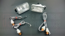 P2M P2-N180FCL02-JY Dual Post Front Position Lights Type-X, LED - Nissan 180SX