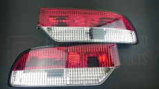 P2M P2-N180RTL01C-JY Rear Tail Light Set 3pc, Clear - Nissan 240SX 89-94' S13