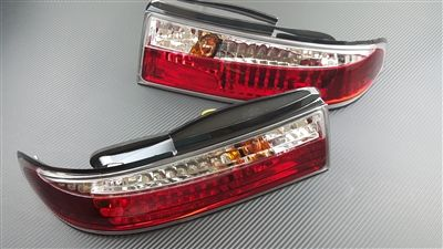 P2M P2-NS14RTL02C-JY Rear Tail Light Set, Crystal LED - Nissan 240SX 95-96' S14 Zenki