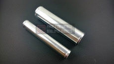 "P2M P2-AS250 Polished Aluminum Pipe, 2.5"" ID, 30cm Length, 1.5mm Thickness"