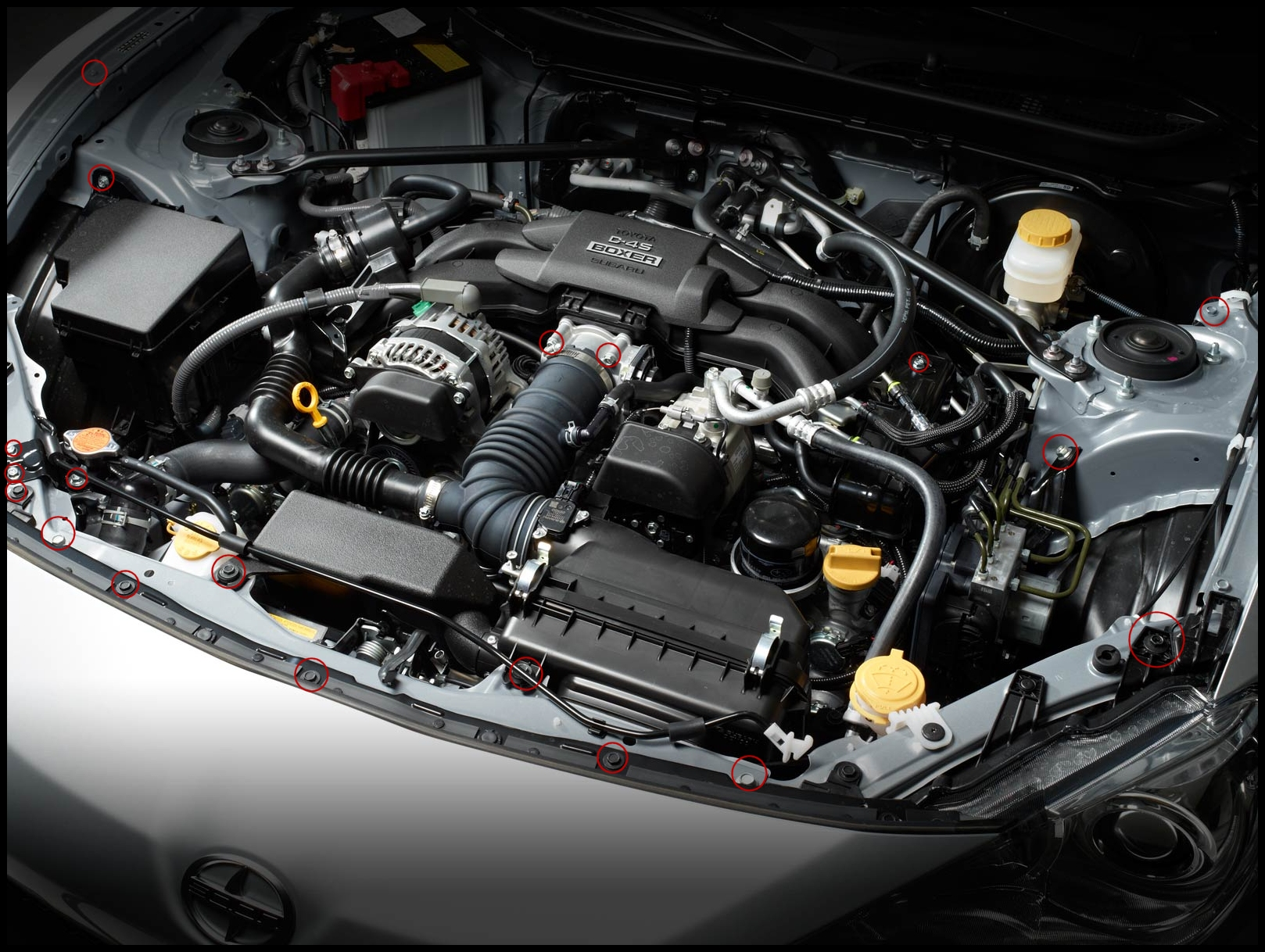 ZSpec Design ZSPEC Design Scion FR S Subaru BRZ Engine Bay