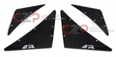 APR Performance AB-200300 Front Bumper Canard Set A, Carbon Fiber - Universal