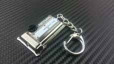 P2M P2-KYCSR20-BC Engine Model Keychain, Nissan SR20DET - Black Chrome