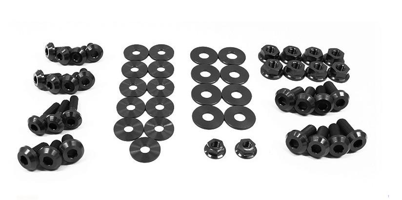 Dress Up Bolts Nis 009 Ti Titanium Dress Up Kit Engine