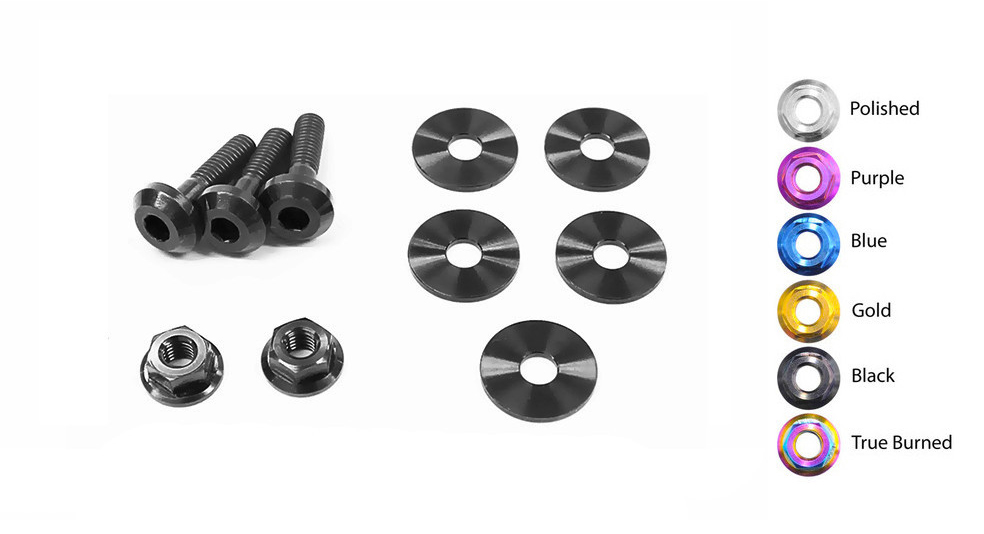 Dress Up Bolts NIS-041-TI Titanium Dress Up Kit, VQ37VHR Engine Cover - Nissan 370Z 09-16 Z34