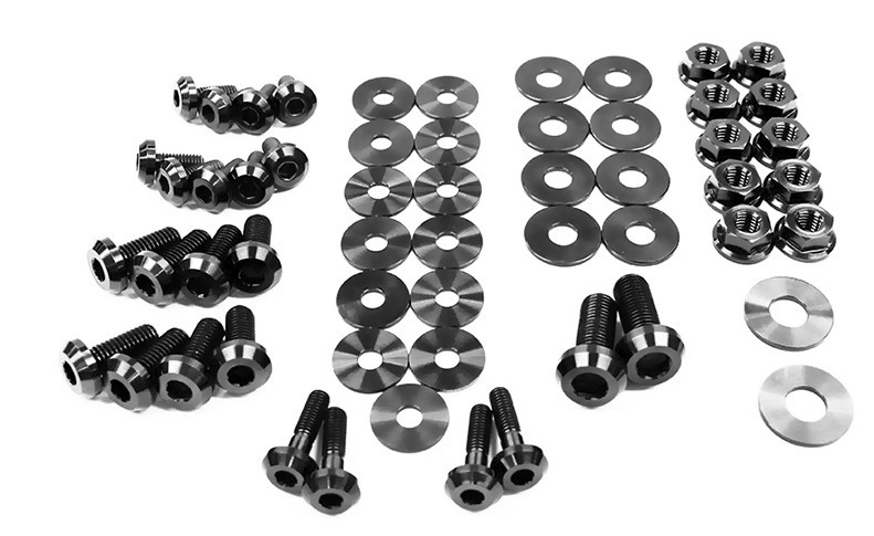 Dress Up Bolts Nis 035 Ti Titanium Dress Up Kit Engine