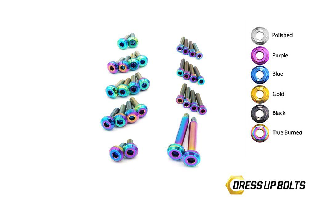 dress up bolts nis-037-ti titanium dress up kit, rb26 engine cover