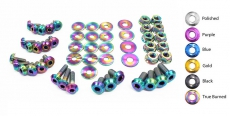 Dress Up Bolts NIS-001-TI Titanium Dress Up Kit, Engine Bay - Infiniti G35 03-06 Sedan, 03-07 Coupe VQ35DE V35