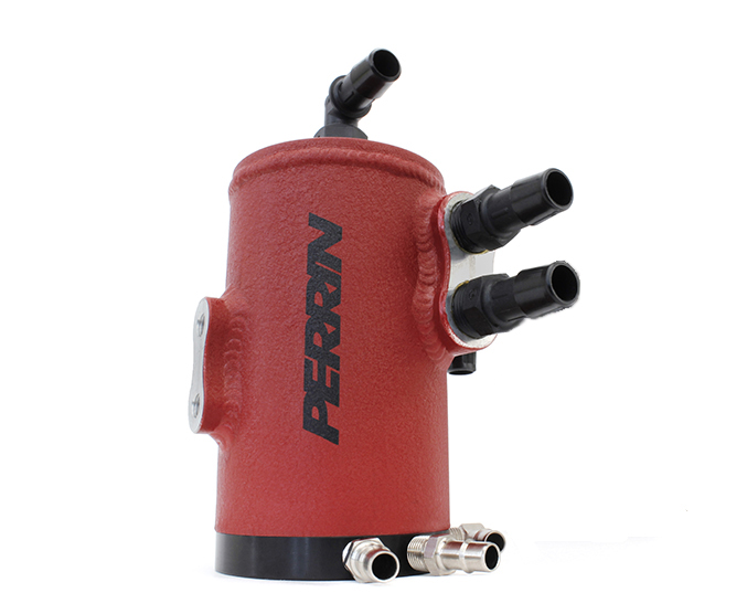 Perrin Air Oil Separator Kit, Red - Subaru 08-14 WTX / 08-15 STI TMIC