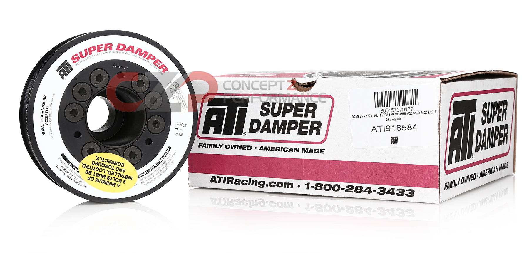 ATI Performance ATI Super Damper Street Crank Pulley, Stock Size 5 5