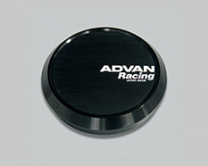 Advan Racing YPADCC73FB Flat Center Cap, Black - 73mm