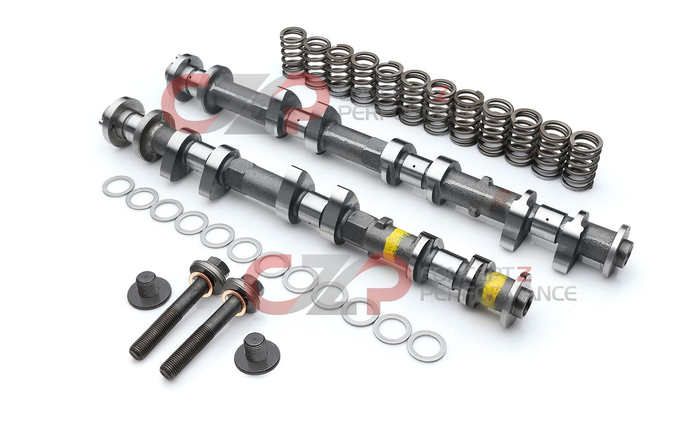 "Jim Wolf Technology JWT Complete Exhaust Camshaft Kit w/ Springs & Deep Threaded Bolts, C1 263 Deg / .446"" VQ37VHR - Nissan 370Z / Infiniti G37 Q40 Q50 Q60 M37 FX37 QX70"