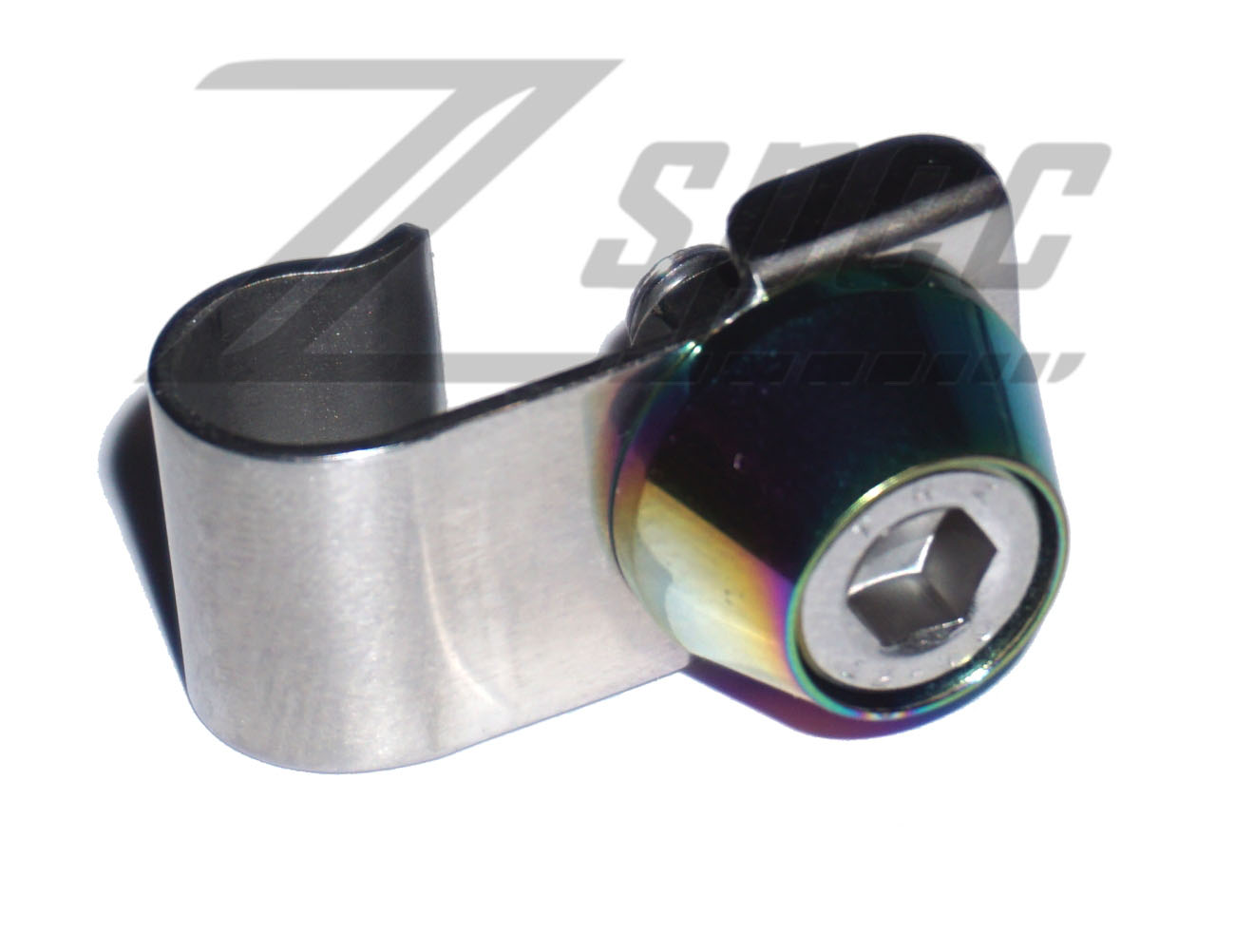 ZSpec Design SS Throttle Cable Clip, Polished - Nissan 300ZX Z32