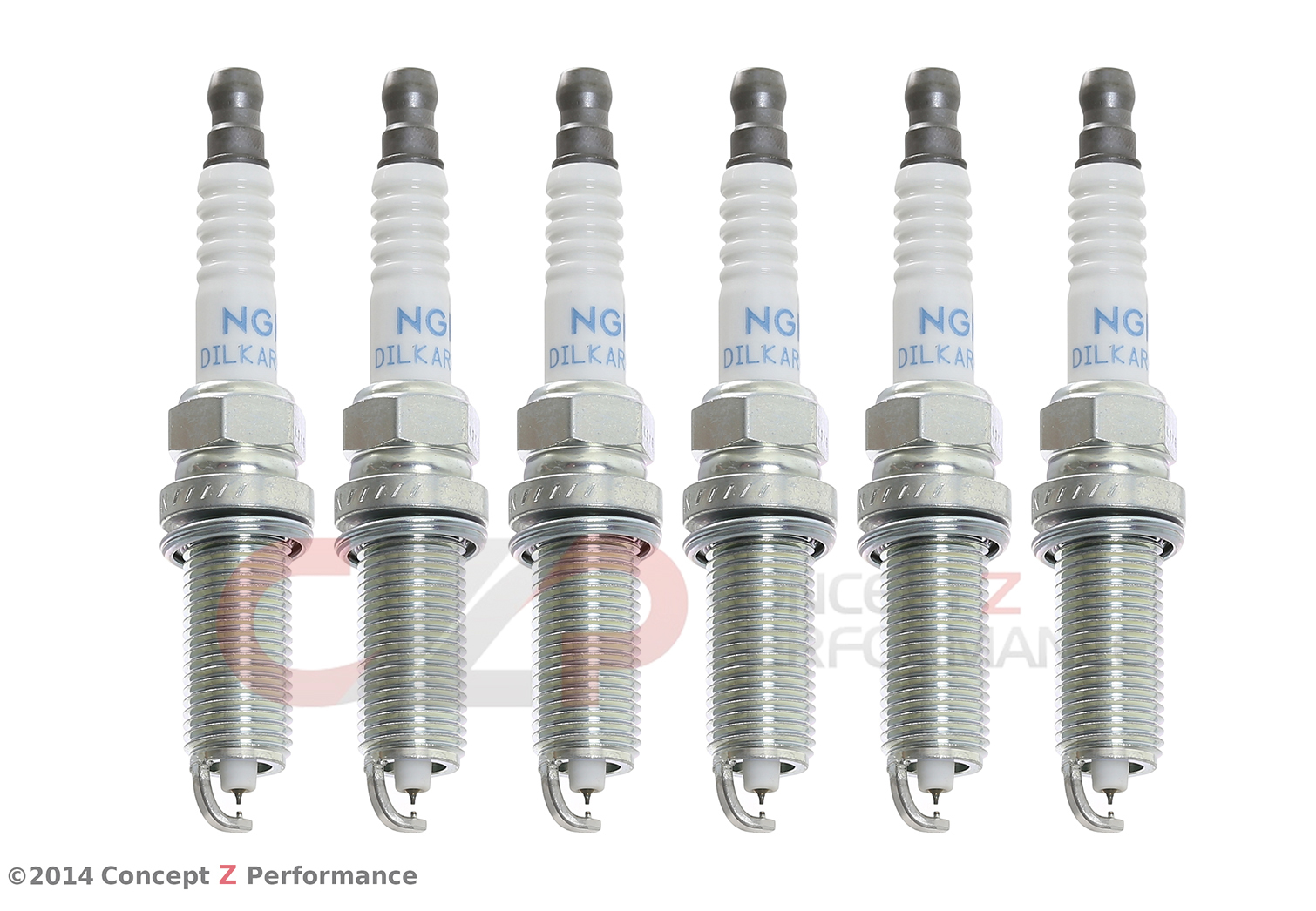 NGK 93026 DILKAR8A8 Iridium Spark Plug Set, Heat Rage #8 for Forced Induction Applications, VQ35HR VQ37VHR VR38DETT - Nissan 370Z GT-R / Infiniti G35 G37 Q40 Q60