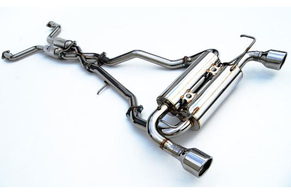 Invidia Gemini Cat-Back Exhaust System with Stainless Steel Rolled Tip - Infiniti FX35 FX45