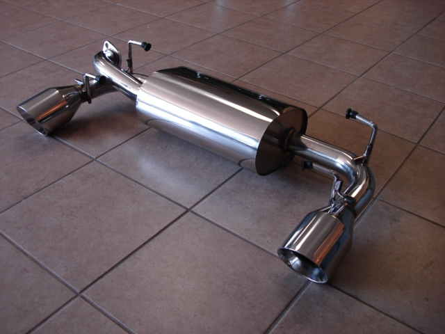 Top Speed Rear Axle-Back Exhaust System - Rear Section - Scion FR-S ...