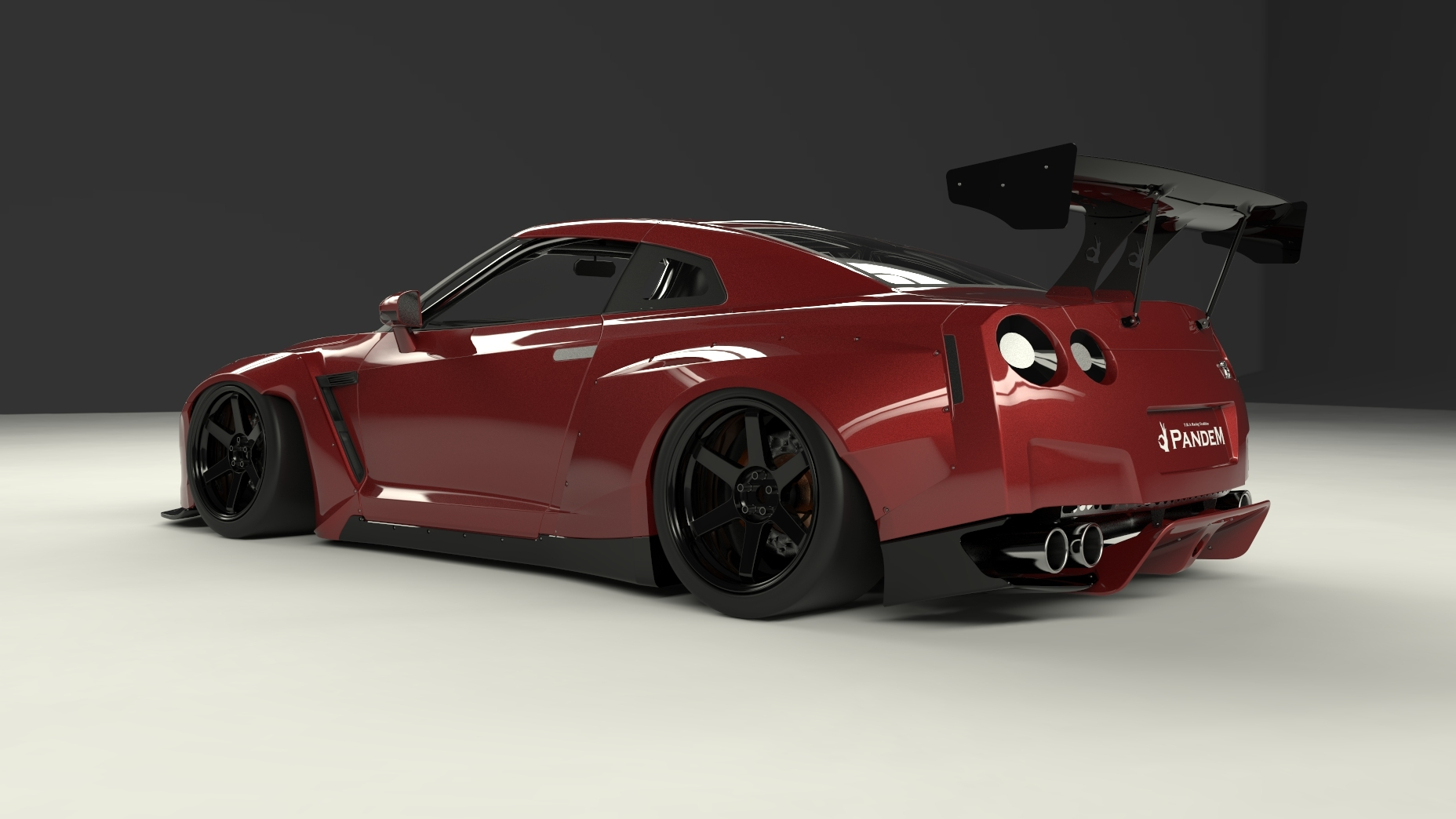Greddy Pandem by TRA Kyoto Complete Body Kit - Nissan GT-R ...