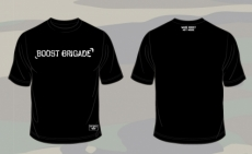 Boost Brigade Text Stencil Tee - Black