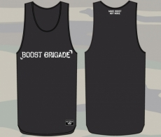 Boost Brigade Text Stencil Tank - Black