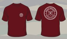 Boost Brigade Seal Pocket Tee- Burgundy