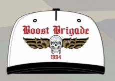 Boost Brigade Wing Trucker - White/Black