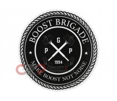 Boost Brigade Seal Slap Sticker - White/Black